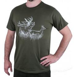 Zelené poľovnícke tričko -...